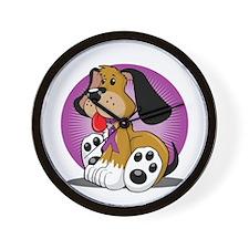Crohns-Disease-Dog-blk Wall Clock