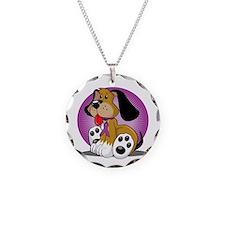 Crohns-Disease-Dog-blk Necklace