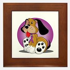 Crohns-Disease-Dog-blk Framed Tile