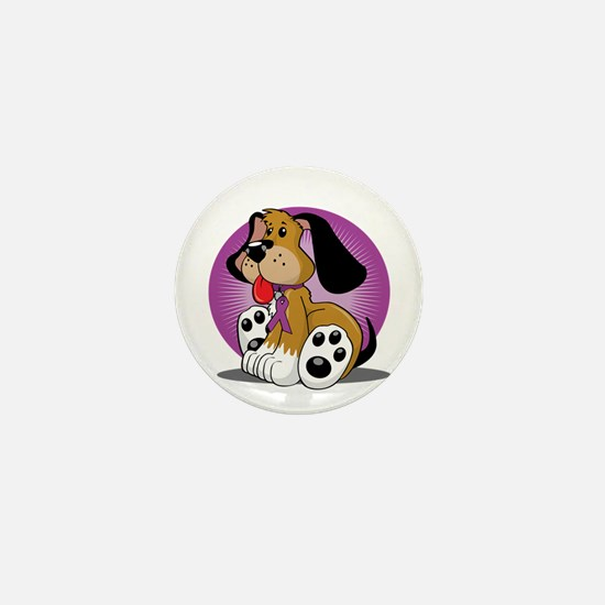 Crohns-Disease-Dog-blk Mini Button