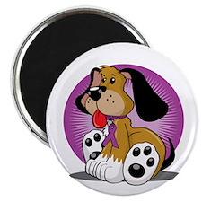 Crohns-Disease-Dog-blk Magnet
