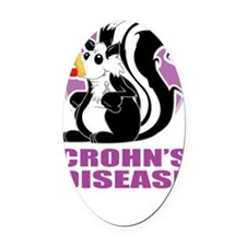Crohns-Disease-Stinks-blk Oval Car Magnet