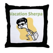 vacation_sherpa Throw Pillow
