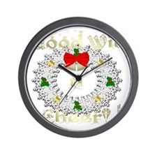 Shirt_SnowflakeWreath Wall Clock