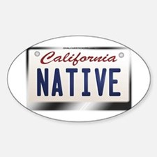 california_licenseplates-native2 Sticker (Oval)