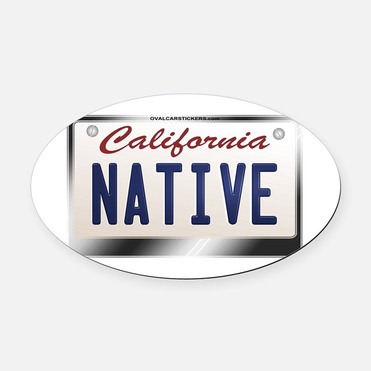 california_licenseplates-native2 Oval Car Magnet