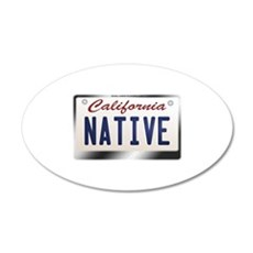 california_licenseplates-nat Wall Decal