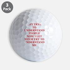 UNDERSTANDing Golf Ball