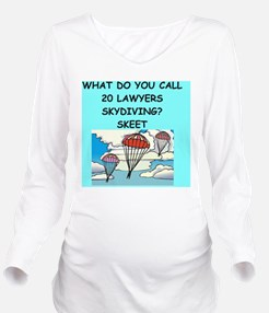 SKYDIVING lawyers Long Sleeve Maternity T-Shirt