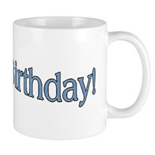 happpy birthday blue Mug
