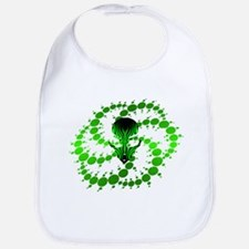 Green Crop Circle with Alien Face Bib