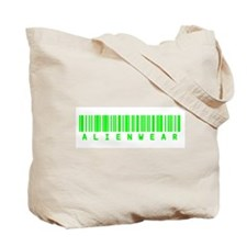 Green Crop Circle with Alien Face Tote Bag