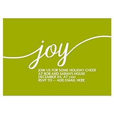 Joy Holiday Lime Green Invitations