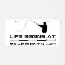 2-Fishing.eps Aluminum License Plate