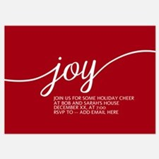 Joy Holiday Red Invitations