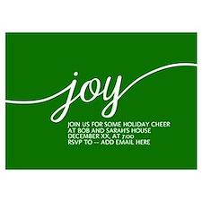 Joy Holiday Green Invitations