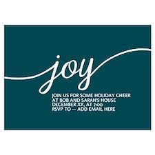 Joy Holiday Blue Invitations
