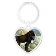 monkey32 Heart Keychain