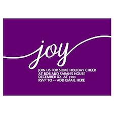 Joy Holiday Purple Invitations