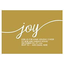 Joy Holiday Gold Invitations