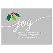 Joy Holly Gray Invitations