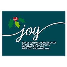 Joy Holly Blue Invitations