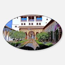 Alhambra in Granada Sticker (Oval)