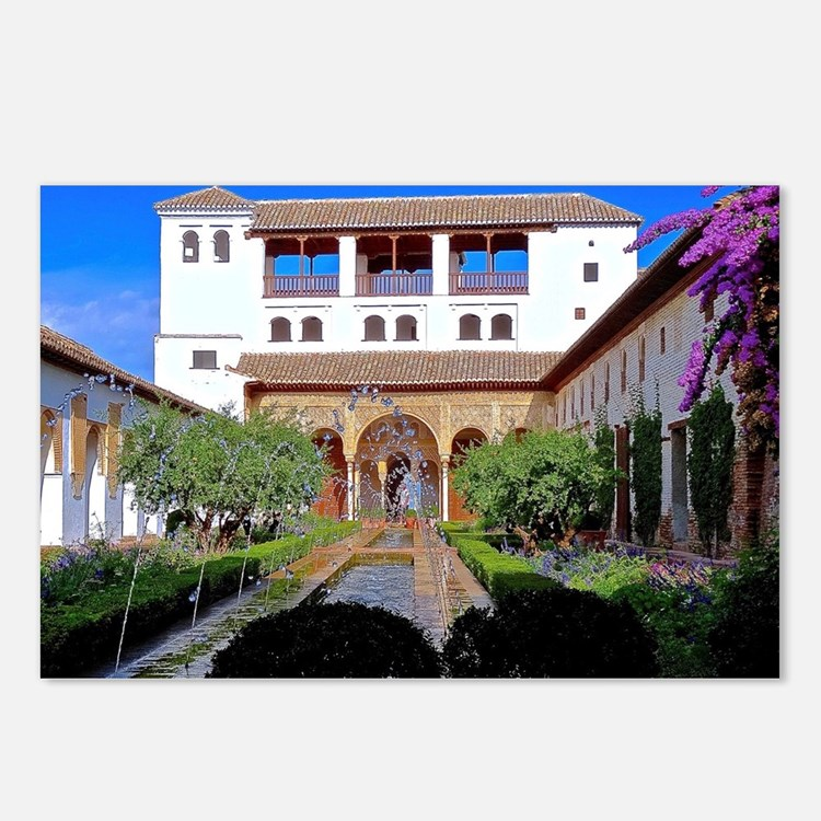 Alhambra in Granada Postcards (Package of 8)