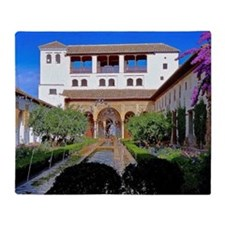 Alhambra in Granada Throw Blanket