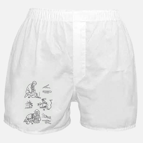 girls making fire2 Boxer Shorts