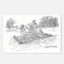 2-girls on a raft Postcards (Package of 8)