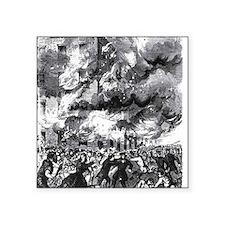 "ny riot- 2nd av armory Square Sticker 3"" x 3"""
