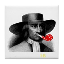 Quakers - Party dark Tile Coaster