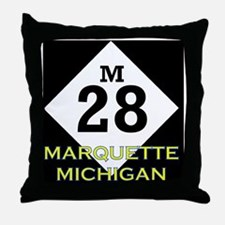 M28marquette Throw Pillow