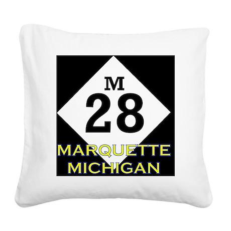 M28marquette Square Canvas Pillow