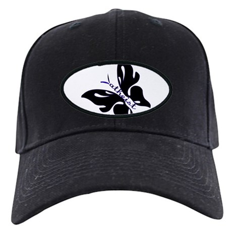 Black & Blue Atheist butterfly Black Cap