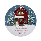 2015 new home xmas orament Round Ornaments