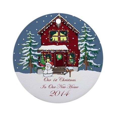 First Home Christmas Ornament 2014 by sparetimedesign
