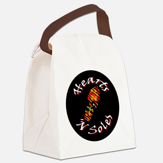 BurningHeartsNSoles_ButtonGeneric Canvas Lunch Bag