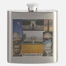 Washington D.C. collage Flask