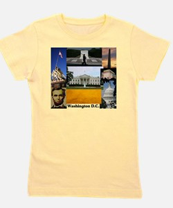 Washington D.C. collage Girl's Tee