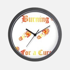 Burning4ACure_boot_EKGCafePress Wall Clock