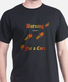Burning4ACure_boot_EKGCafePress T-Shirt