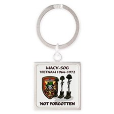 MACV-SOG-Boots-Memorial Square Keychain