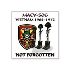 "MACV-SOG-Boots-Memorial Square Sticker 3"" x 3"""
