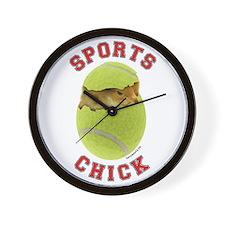 Tennis Chick 3 Wall Clock
