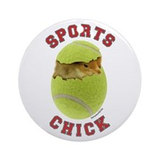 Tennis Chick 3 Ornament (Round)