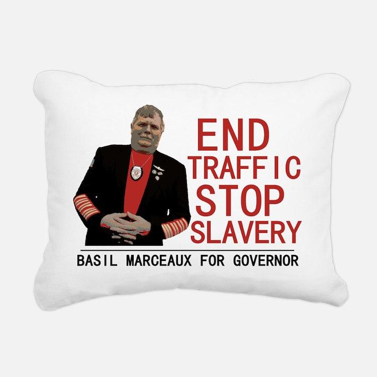 basil marceaux Rectangular Canvas Pillow