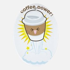Coffee-power Oval Ornament