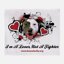 Lover Not Fighter Throw Blanket